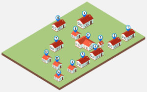Схема базы отдыха «Кучигер»