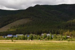 Летний пейзаж базы отдыха
